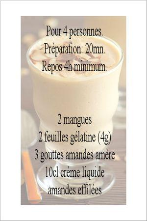 recette mousse mangues