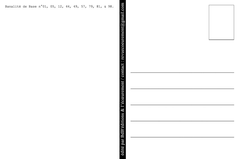 Verso CP BDB n°01,05,12,44,49,57,79,81,98