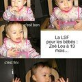 Le baby sign