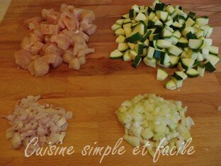 risotto courgettes poulet 01