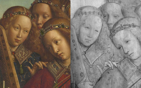 Ghent_Altarpiece_Angel_Musicians_comparison