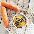 Soupe crémeuse carottes et lentilles corail