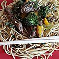 Boeuf et brocolis sautés au wok