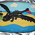 Gâteau dragon playmobil