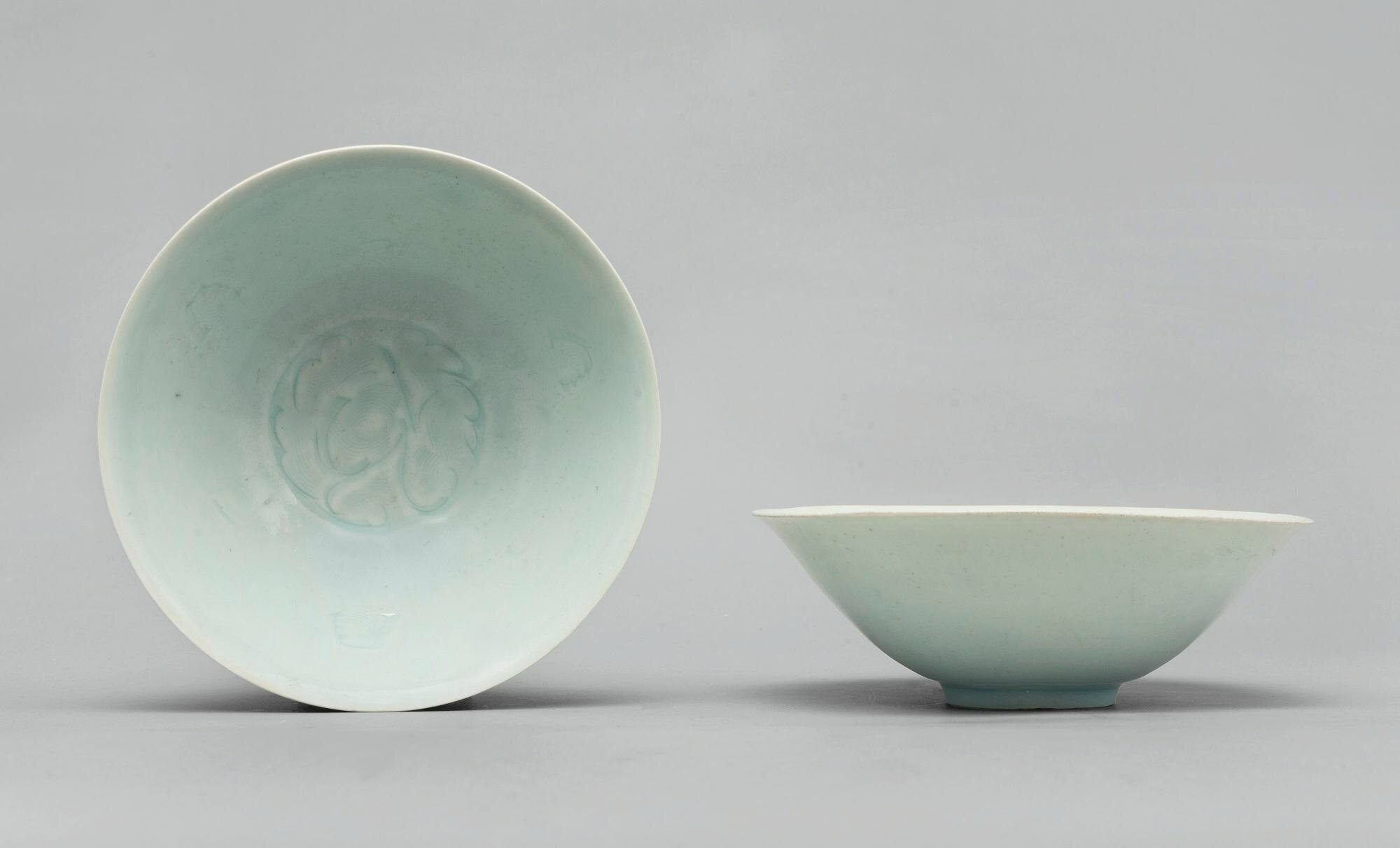 A pair of Qingbai 'floral' bowls, Song dynasty