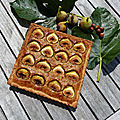 Tarte noisettine aux figues