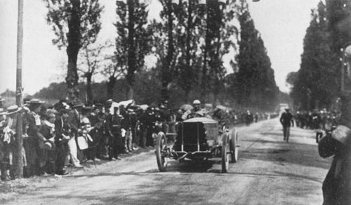 1903 paris-madrid - charles jarrott (de dietrich) 4th 4