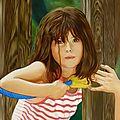 Maëlys - Huile - 55 x 46 - 2 mai 2011