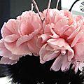 décoration de table noir et rose boudoir