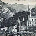 01 Lourdes - les rampes et la basilique (datée 1914)