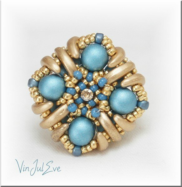 Bague Nov turquoise or