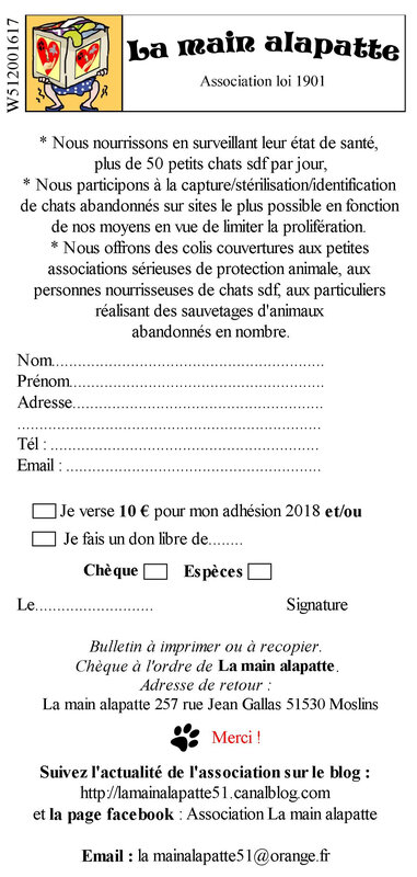 BULLETIN D'ADHESION LA MAIN ALAPATTE (page 1)