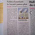 Fuites d'uranium la socatri paiera plus midi libre