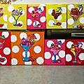 Coupes de glaces peintes par les enfants