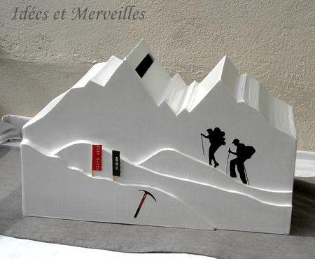 urne theme montagne - mont blanc Idees et Merveilles (1)