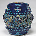 Ming dynasty fahua cermics sold at christie's new york, 19 march 2008