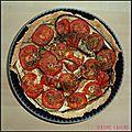 Tarte aubergines, tomates et savora
