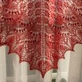 Swallow Tail Shawl par Annick, détails