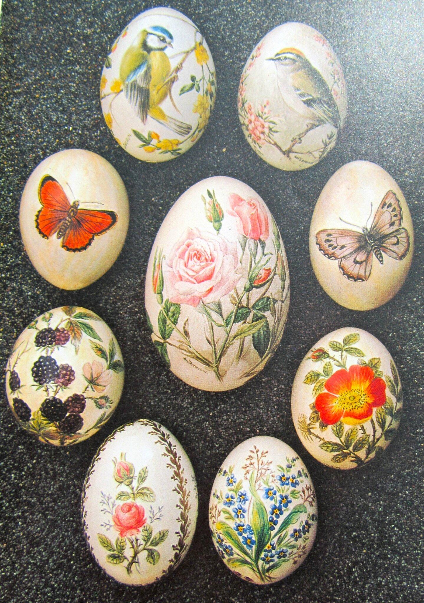 Décoration des oeufs de Pâques.
