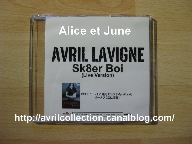 CD promotionnel Sk8er Boi (Live Version)-Japon (2003)