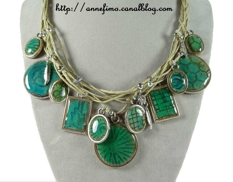 collier médaillons céramique 2