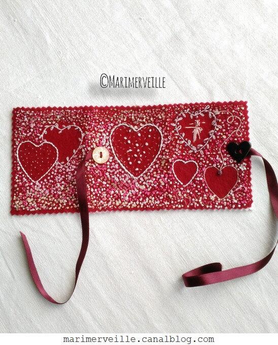 carnet Saint Valentin 5 - création exclusive Marimerveille