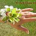 Bracelet Floral Cymbidium & Plume