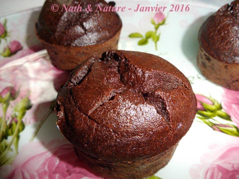 Muffins fondants au chocolat healthy - 3