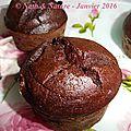 Muffins fondants au chocolat {sans beurre, sans produits laitiers, sans sucre raffiné, sans gluten}