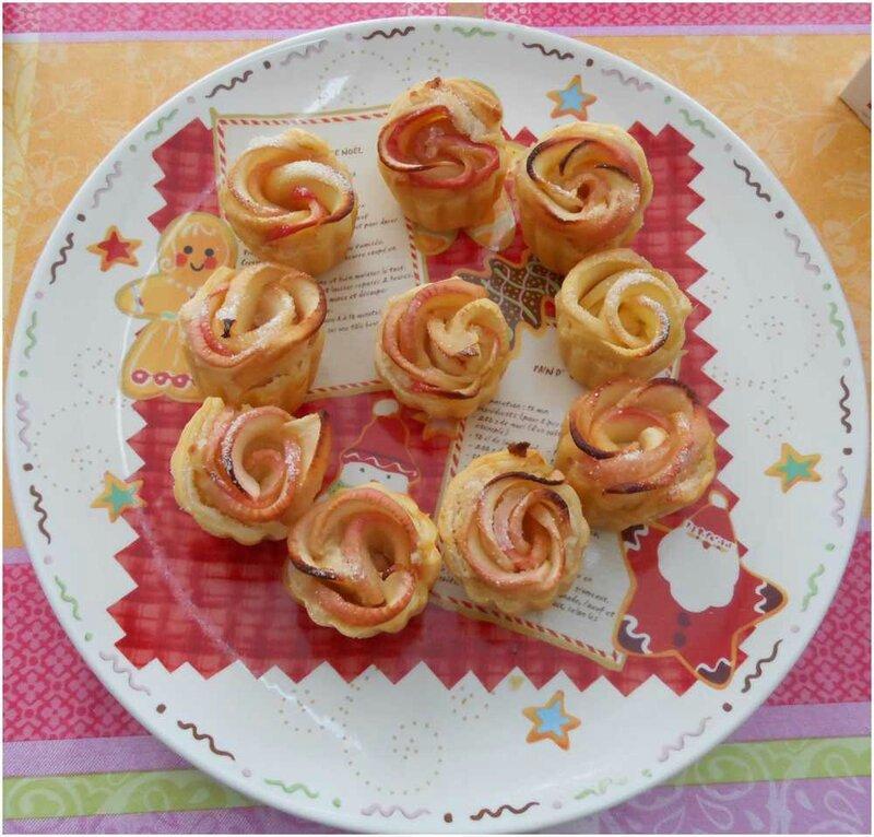 pommes en rose
