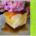 Cheesecake vanille/speculoos et sa sauce caramel