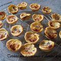 Tartelettes oignons rouges et allumettes de jambon