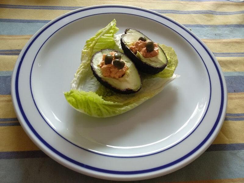 Avocat à la mousse de saumon