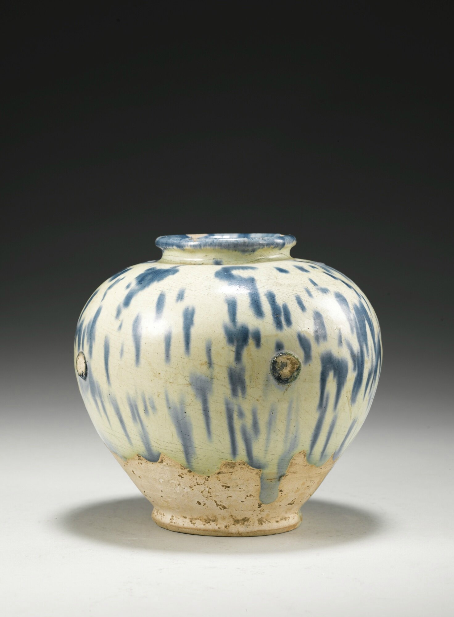 A Blue-Splashed Pottery Jar, Tang Dynasty