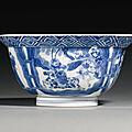 A blue and white bowl, kangxi mark and period (1662-1722)