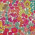 Tissu liberty margaret annie multicolore