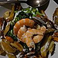 Salade pommes de terre brocolis aux crevettes