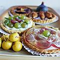 Tartelettes aux raisins muscats de la treille
