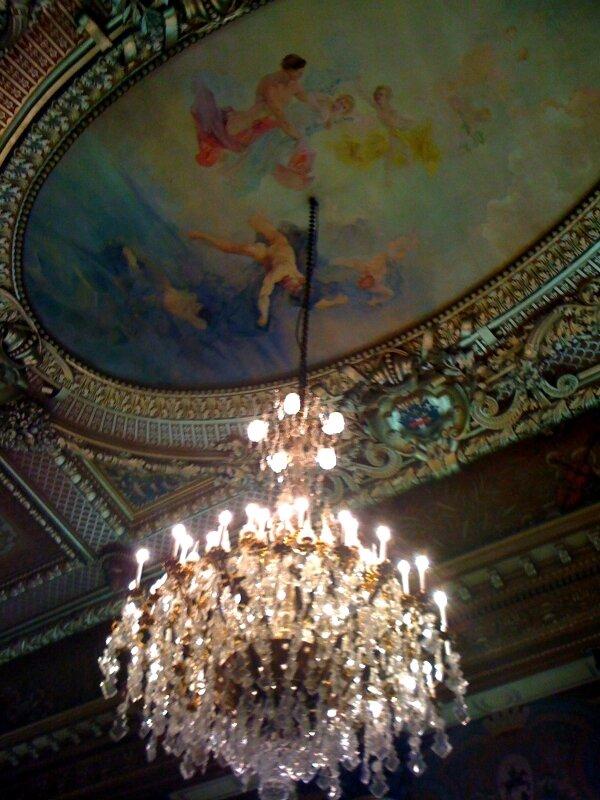 La préfecture, le plafond de la salle des fêtes