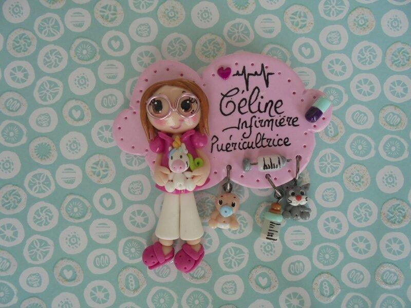 badge Céline et licorne