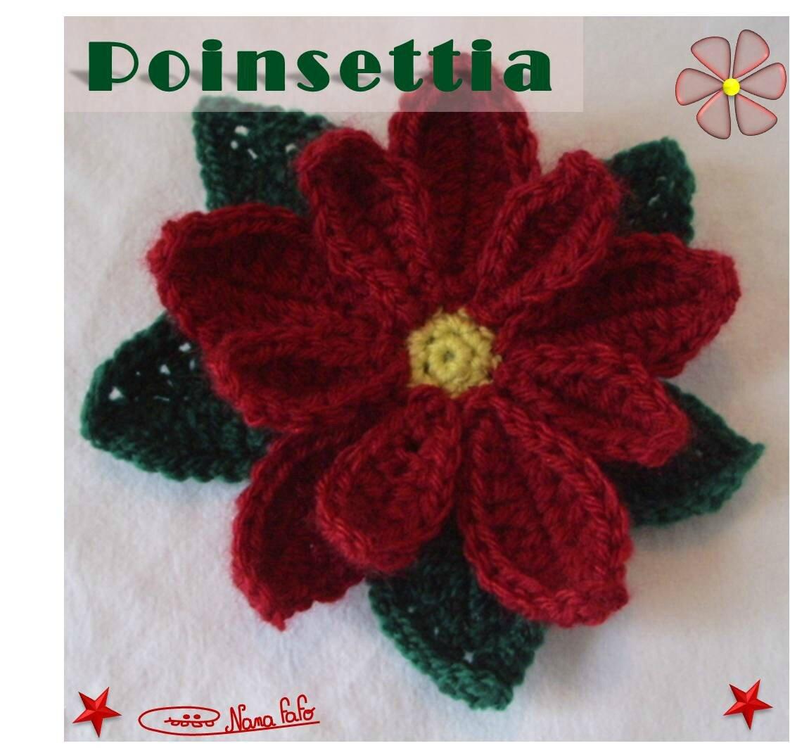 Poinsettia au crochet 2