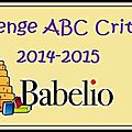challenge ABC Babelio 2014