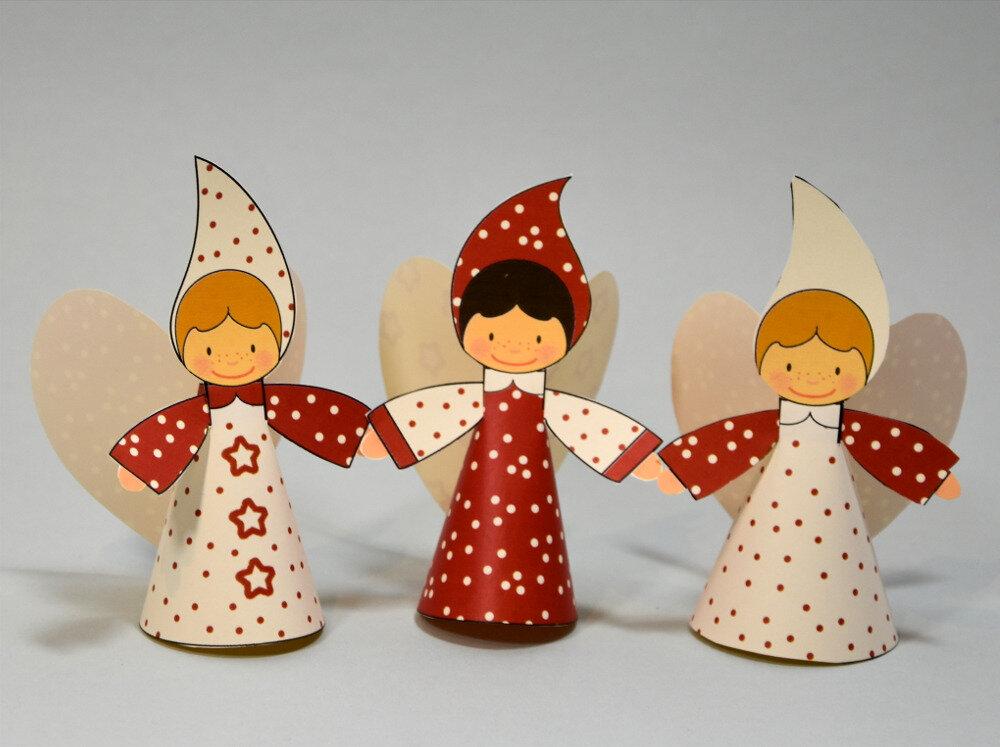 ♥❣♥❣♥joli bricolage de Noël ♥❣♥❣♥ [les lutins en papier à imprimer]