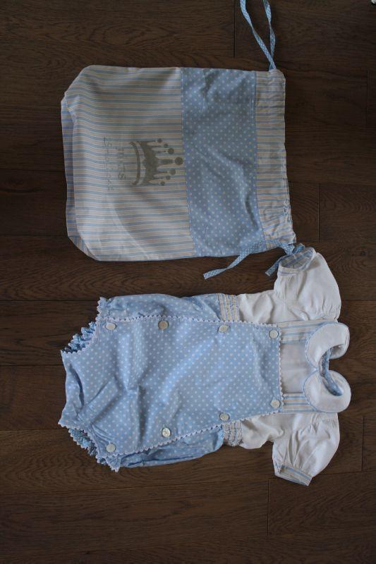 Le sac pour mon bébé, et la petite tenue assortie ! 45€