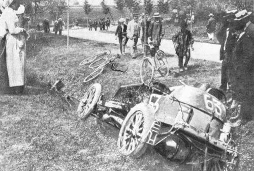 1903 paris-madrid - marcel renault (renault 30hp) crashed fatally at théry 4