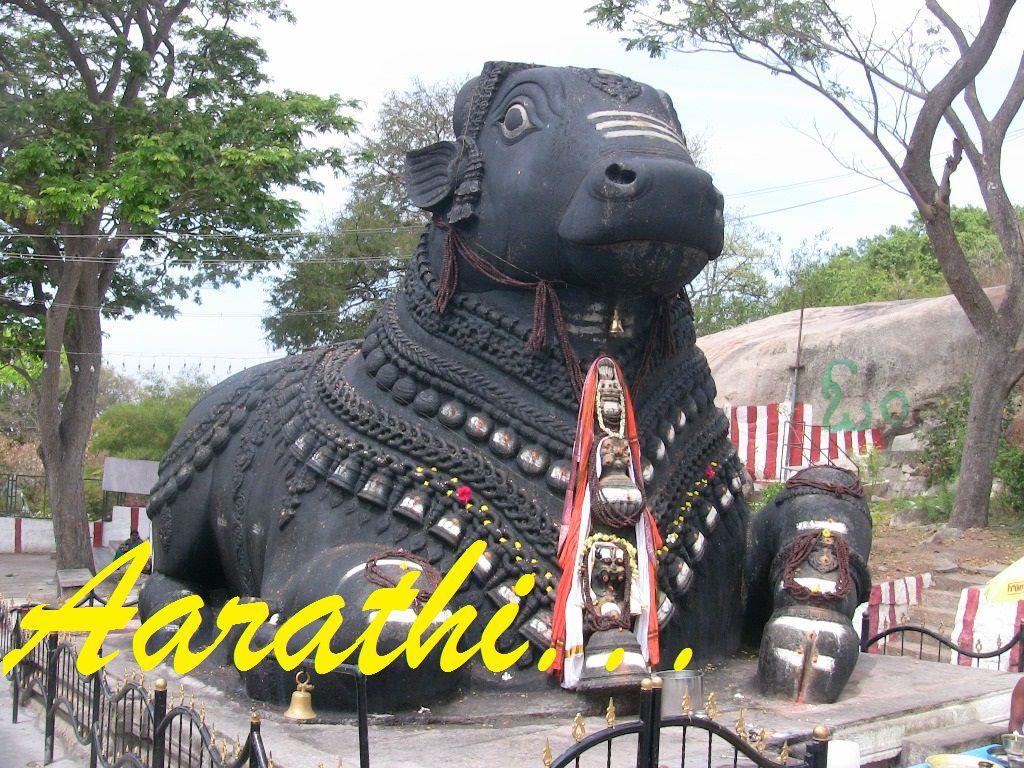 Nandi statue at Chamudeshwari Temple.