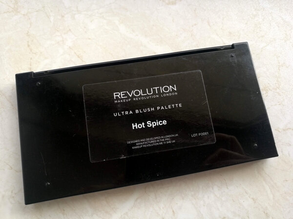 makeup revoluion ultra blush palette hot spice (2)