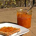 Confiture de mandarine et d'orange au gingembre