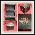 Coffret à bijoux noir et or 25 €