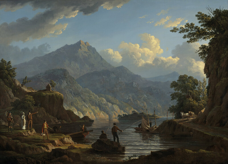John_Knox_-_Landscape_with_Tourists_at_Loch_Katrine_-_Google_Art_Project